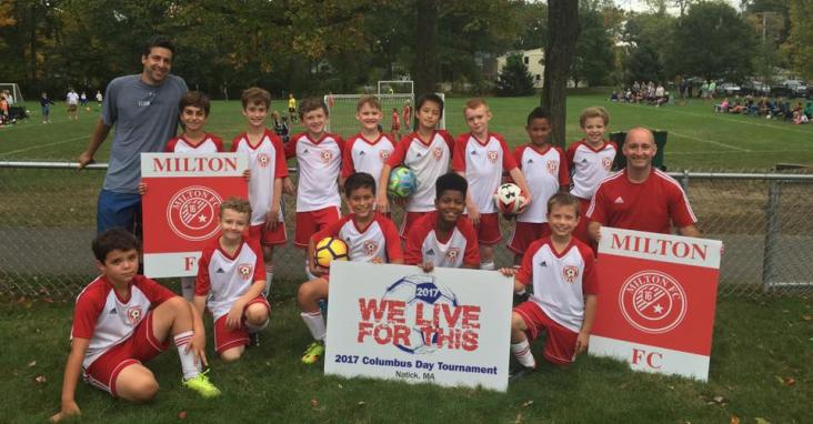 4th Grade Travel Boys Milton FC at the 2017 Natick Columbus Day Tournament